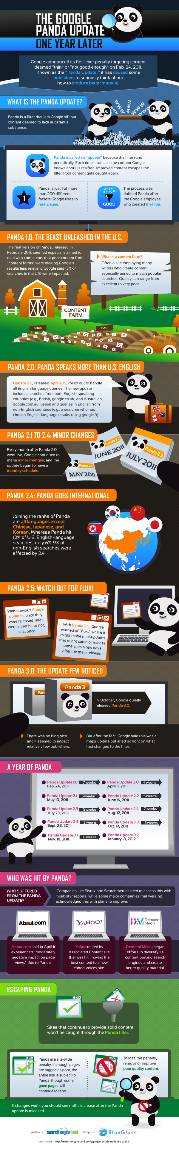 The Google Panda Update - One Year Later